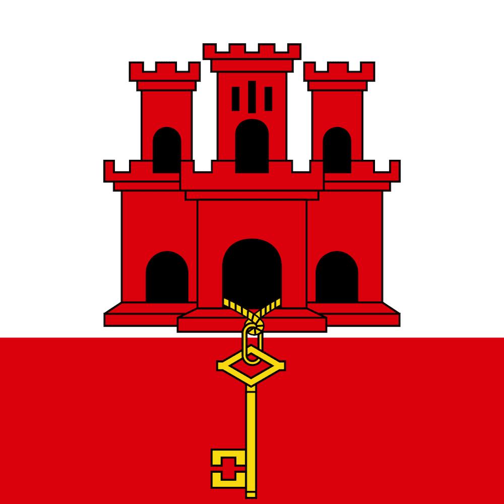 National flag of Gibraltar