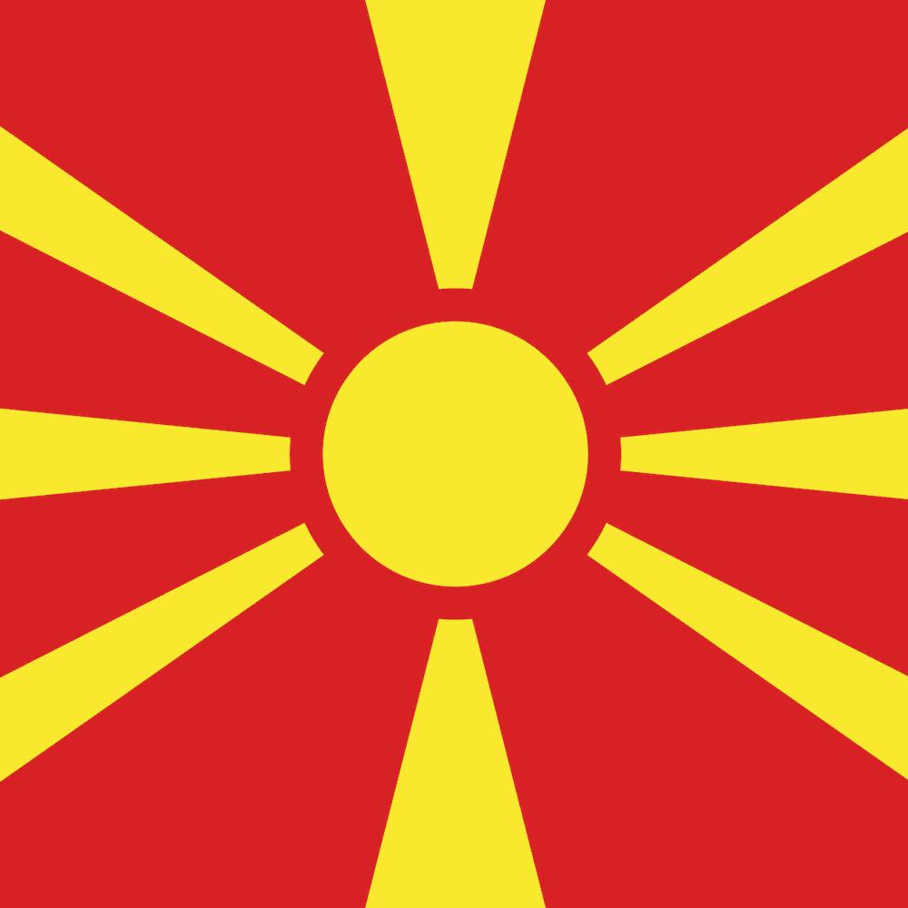 National flag of North Macedonia